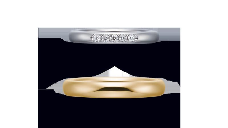 結婚指輪 オリジンビリーフ35R×25DR5