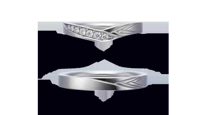 結婚指輪 春月(はるつき)