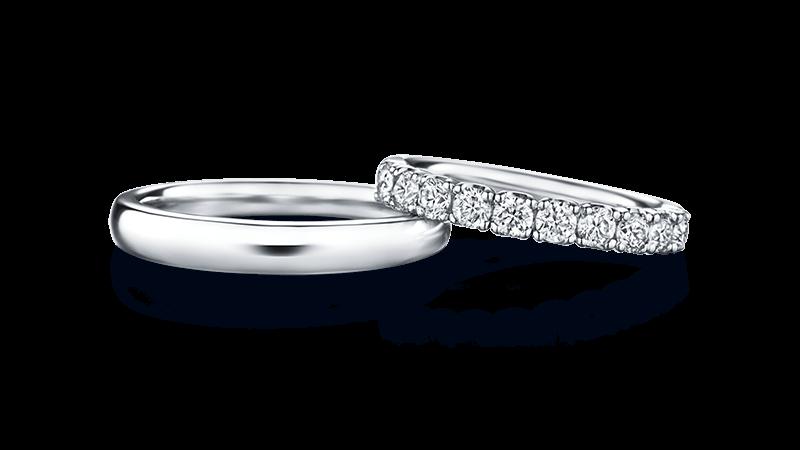 結婚指輪 フェリキタス(左)×セレーネ(右)