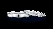 結婚指輪 パエンナ(左)×マーニ・ハーフ(右)